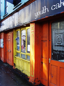 The long-closed 'Youth Cafe' isn't looking so youthful these days.