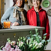 Owner Brenda Giambrocco and employee Kathy Ricker talk about new business Fleur Du Jour Flower Boutique, located at 5 West Street in Leominster. SENTINEL & ENTERPRISE / Ashley Green