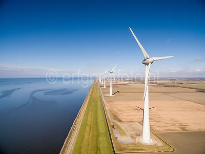 Urk - Windmolens Zuidermeerdijk
