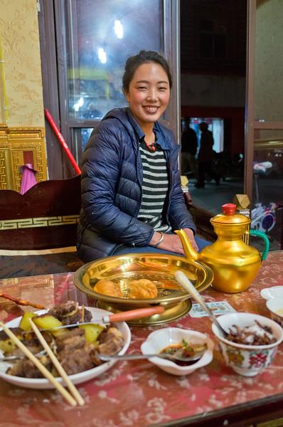 Waitress, Auspicious Tibetan Cafe 祥瑞藏餐 , Daocheng