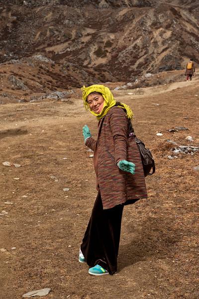 Pilgrim, Mt. Chenrezig kora, Yading
