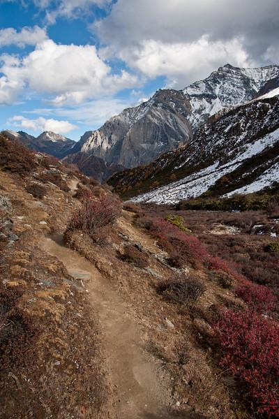 Along Mt. Chenrezig kora route<br /> Yading