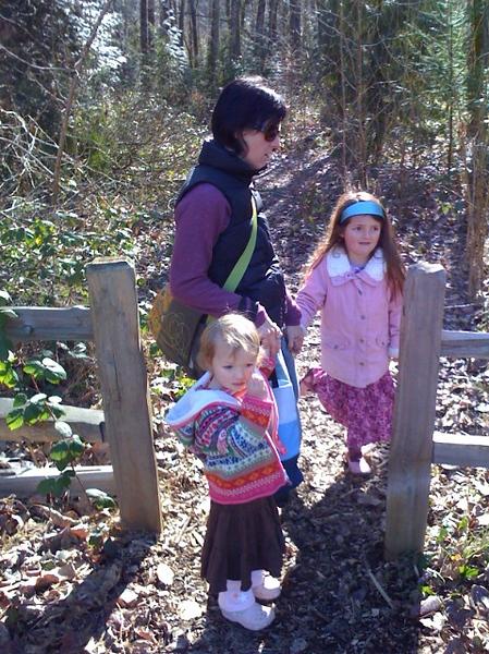 Girls on a hike