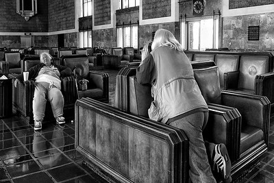 Caught Napping Union Station , Los Angeles, CA Explore # 174 May 17 2012
