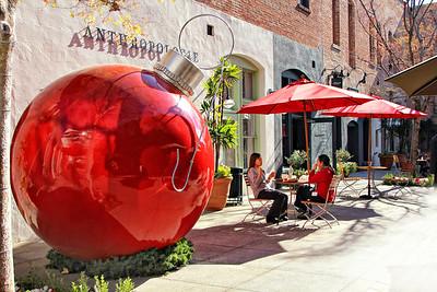 Explore #139 Dec 13 2013 Lunch by the Big Red Ornament Pasadena Ca