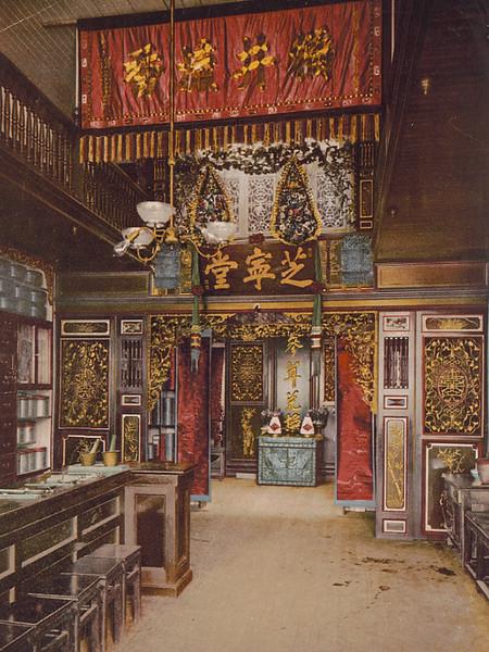 interior of Chinese American pharmacy