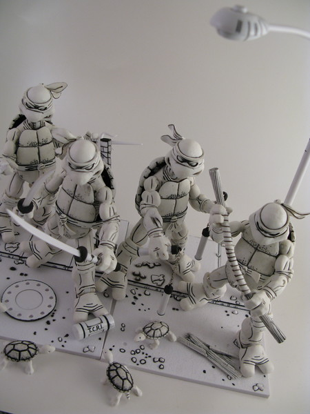 NECA B/W Ninja Turtles