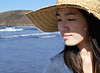 Lucie's fabulous straw hat <br /> I just love Lucie's straw hat! Usually there's some sort of haze or cloud cover making outdoor shooting a very good option. This time there was bright, bright, bright extremely contrasty sun light. I was constantly fighting my exposure. Lucie was very patient with me :-)