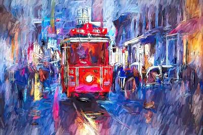 Rainy Night Downtown