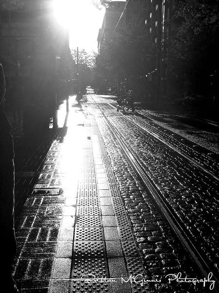 Portland street after the rain