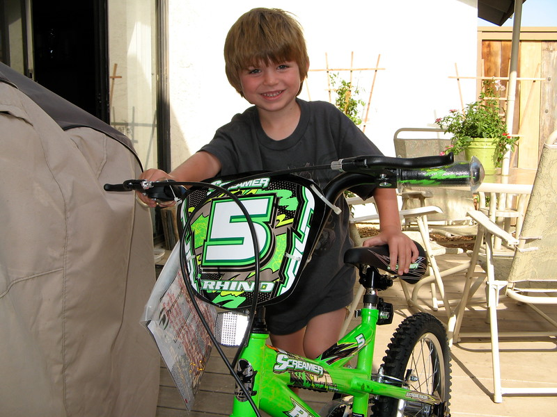 Ethan getting his bike
