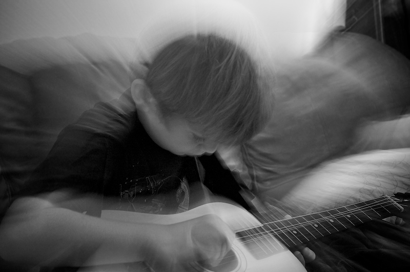 Ethan & his guitar