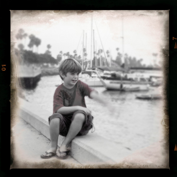 Ethan and the boats