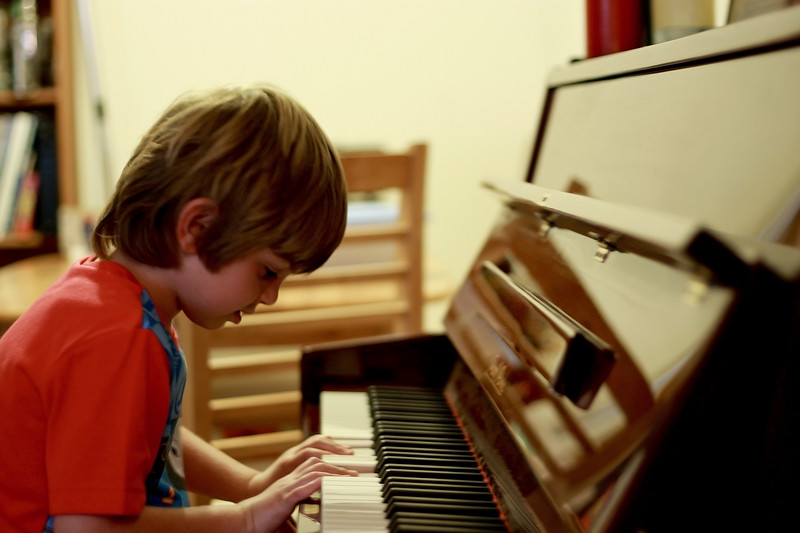 Ethan and the piano