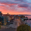 Dawn over Hobart harbour
