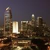 Queen City night skyline