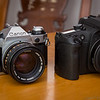 Canon AE-1 Program and EOS 30v Elan 7NE (2013-10-21_3200)