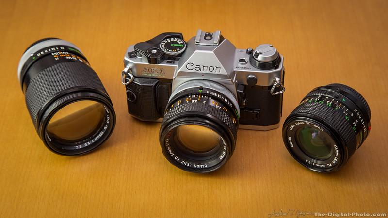 Canon AE-1 Program with lenses. 2013-10-21_3158