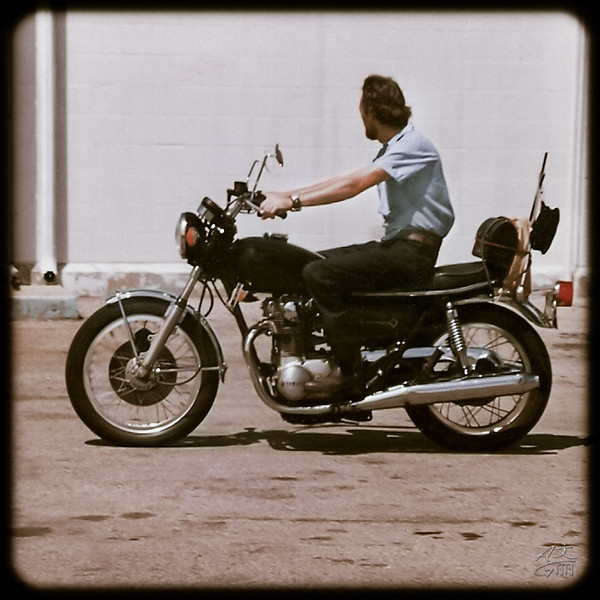 Dad on Motorcycle 1