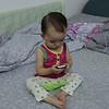 Baby talking on Phone pt 2 (2013-08-18_2479)