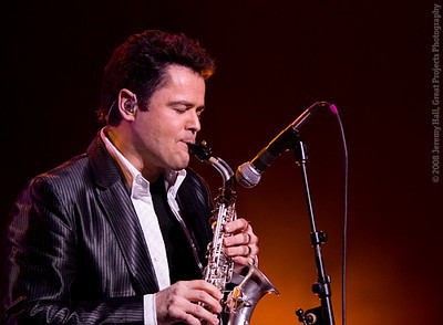 Donny Osmond on Sax