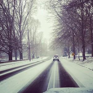 Chastain Park Snow Drive #chastainpark #snow #atlanta