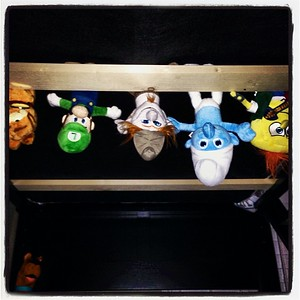 Monsters under the bed #smurfs #spongebob #mariobrothers #garfield