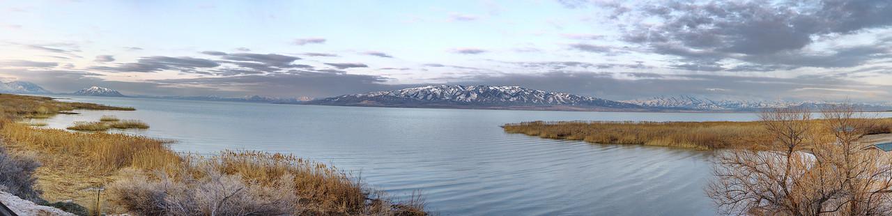 Utah Lake Cloudy Morning