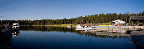 Panoramic Yellowstone Lake Boat Launch