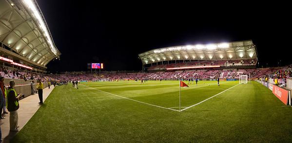 RSL Rino Tinto Stadium - Field level pre-game