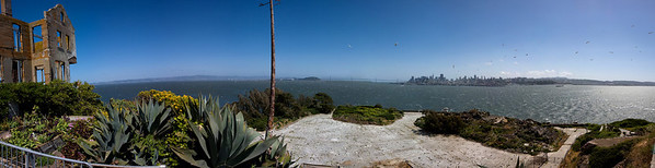 The Parade Grounds - Alcatraz Panoramic