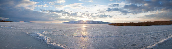 Pano: Utah Lake on the Ice