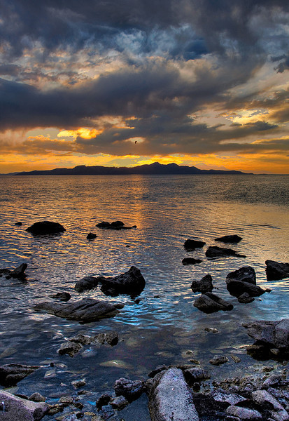 Great Salt Lake Sunset HDR
