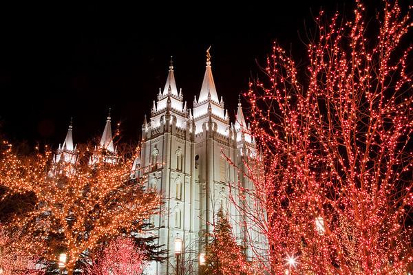 Salt Lake Temple Christmas 2008