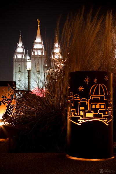 Salt Lake City Temple Square - Christmas 2009
