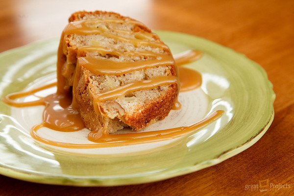 Apple Cake & Caramel Sauce