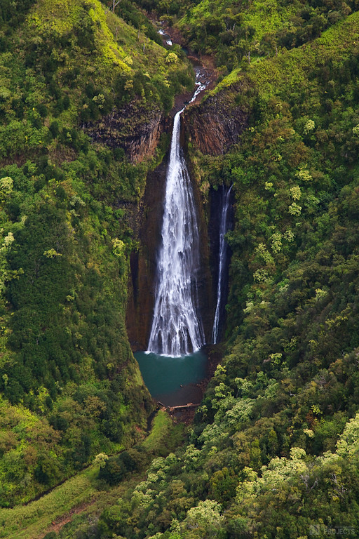 From the Air - Manawaiopuna Falls, Kauai