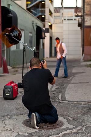 Kim Behind the Scenes