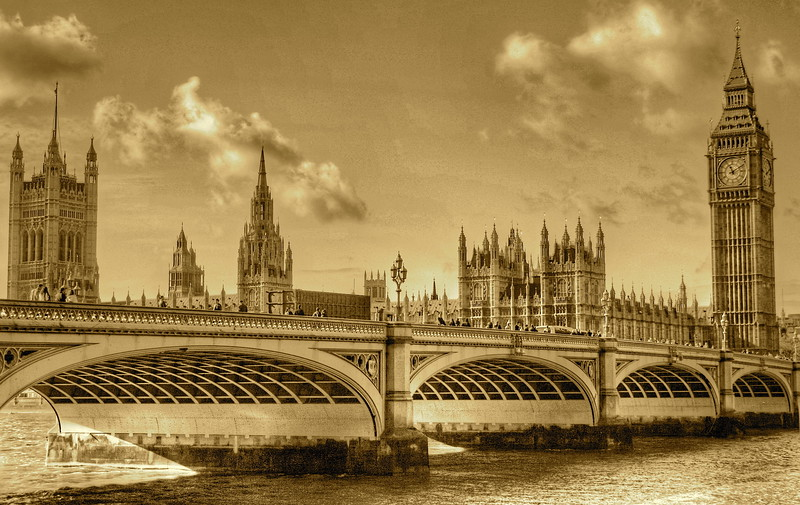 Big Ben in Sepia