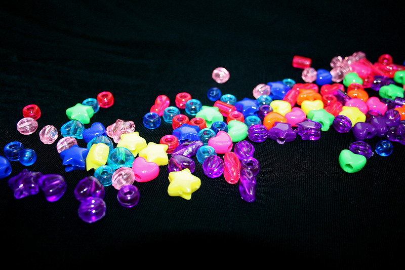 beads on Black