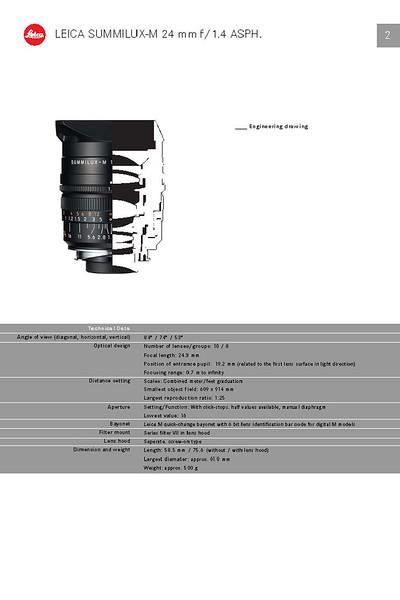 Leica Summilux 24mm f/1.4 ASPH