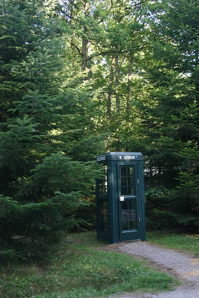 Phone booth in Les Bois Center Parcs