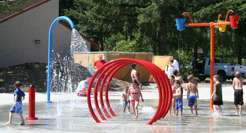 The new waterpark at Klineline Pond
