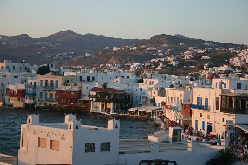 The town of Mykonos