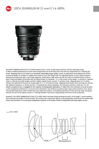 Leica Summilux 21mm f/1.4 ASPH