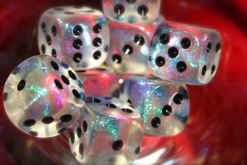 Dice on Red