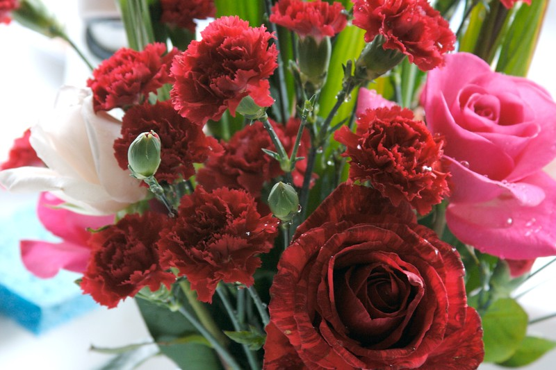 Flower red-pink bouquet