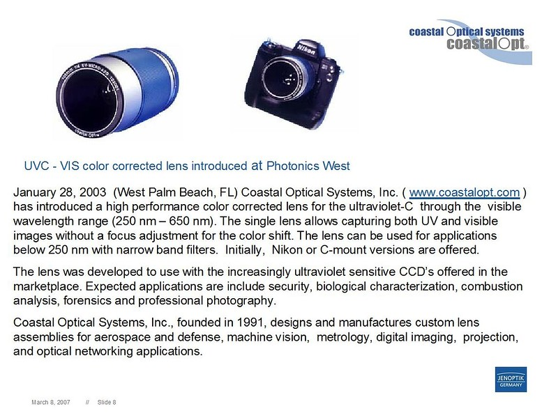 CoastalOpt® UV 105mm f/4.5
