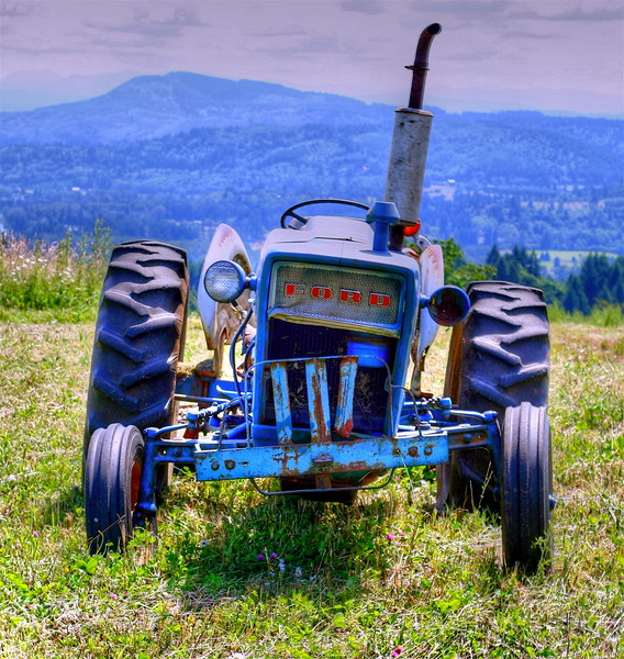 tractor that has seen better days