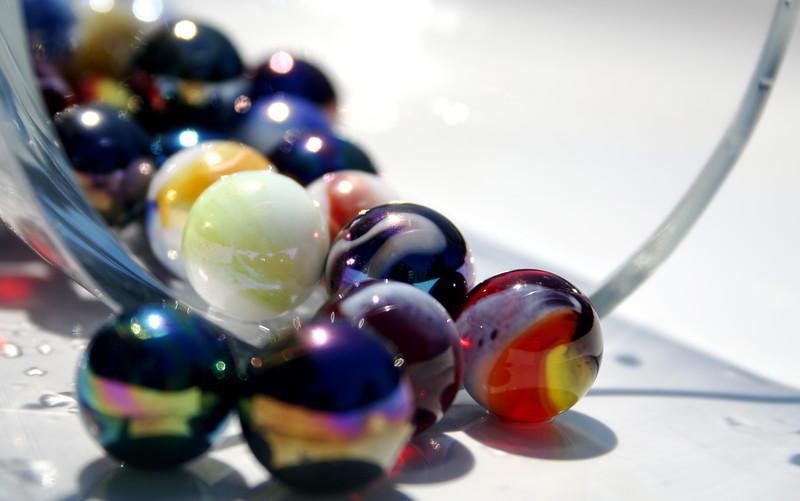 spilled marbles